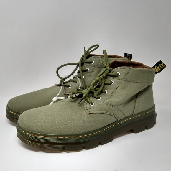 cheap prices forefront of the times nice cheap Dr Martens Bonny Chukka Canvas Boots 5-eye Green